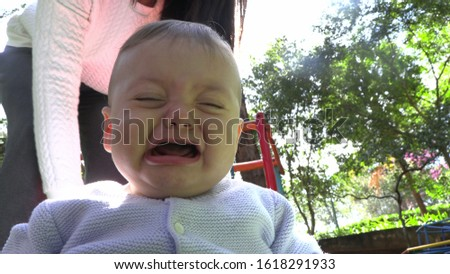 Baby burst out crying infant cries #1618291933