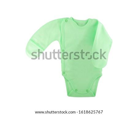 Baby bodysuit on a white background #1618625767