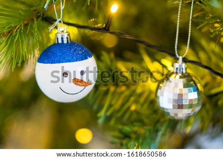 Christmas tree hanging decorations baubles #1618650586