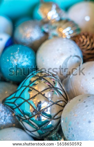 Christmas tree hanging decorations baubles #1618650592