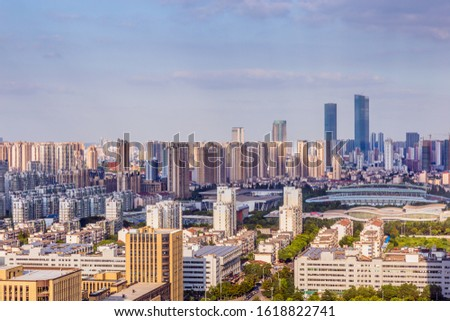 Skyscrapers and skyscrapers in Wuxi City, Jiangsu Province, China #1618822741