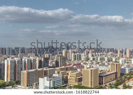 Skyscrapers and skyscrapers in Wuxi City, Jiangsu Province, China #1618822744