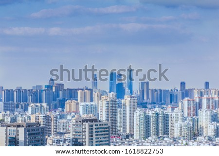 Skyscrapers and skyscrapers in Wuxi City, Jiangsu Province, China #1618822753