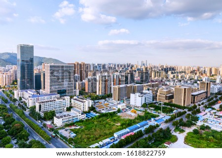 Skyscrapers and skyscrapers in Wuxi City, Jiangsu Province, China #1618822759