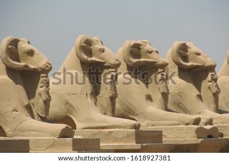 Ancient Egyptian monumental sculpture park #1618927381