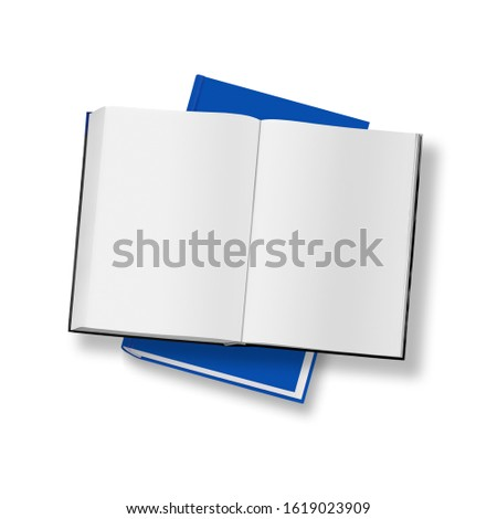 blank pages of a book isolated on white #1619023909