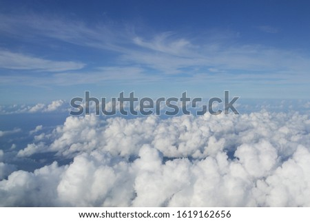 Beautiful cloudscape captured from the plane #1619162656