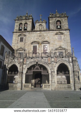 Braga place with monuments and details #1619331877