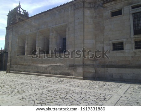 Braga place with monuments and details #1619331880