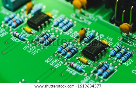 Closeup on Electronic device and electronic board, background image #1619634577