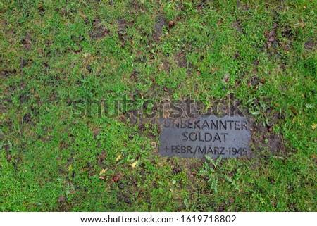 Grave of the unknown German soldier #1619718802