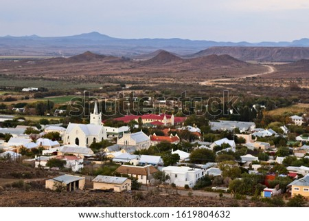 A landscape image of Prince Albert town in the Western Cape of South Africa.