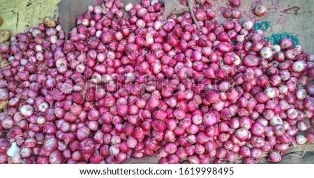 red onion, onion, Fresh onions. Ripe onions. Onions in market #1619998495