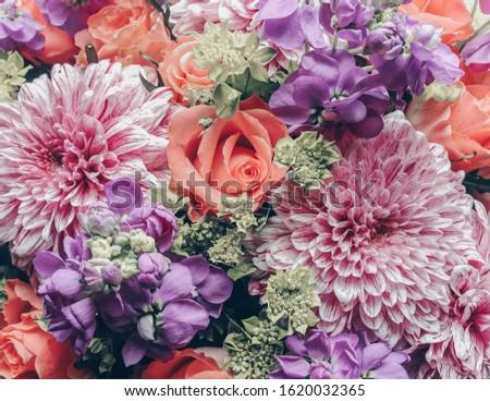 Beautiful natural floral bouquet. Floral background. #1620032365