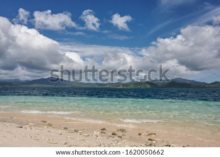 Beautiful scenic marine tropical landscape. Sea and waves, rocky cliffs, mountains. In El Nido. Palawan. Philippines #1620050662