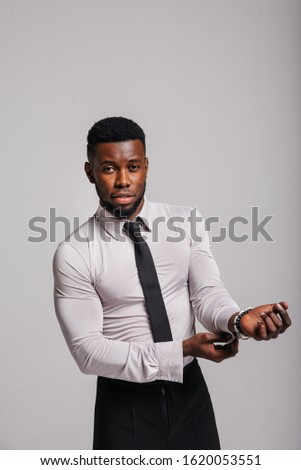 Happy confident young african american business male smiling with confidence, executive stylish company leader. Portrait of an businessman wearing suit and tie isolated on white background #1620053551