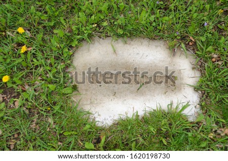 Cemetery grave marker for unknown person #1620198730