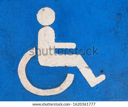Wheelchair icon disabled parking Blue background  #1620361777