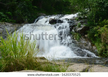 Waterfalls, streams, streams in natural forests #1620370525
