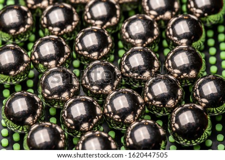 Abstract Metal Reflected Chrome Spheres #1620447505