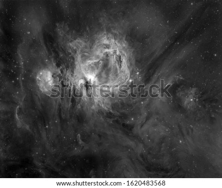 Orion Nebula M42 in Orion constellation with Galaxy,Open Cluster,Globular Cluster, stars and space dust in the universe and Milky way taken by dedicated astrophotography camera on telescope. #1620483568