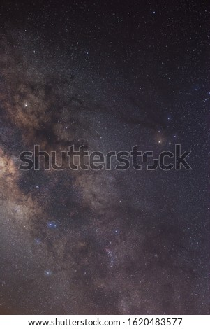Milky way in center of milky way Galaxy,Open Cluster,Globular Cluster, stars and space dust in the universe and Milky way taken by dedicated astrophotography camera on telescope. #1620483577