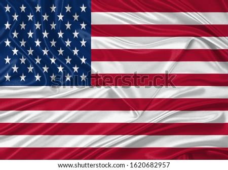 Silk Flag of USA . USA Flag of Silk Fabric #1620682957