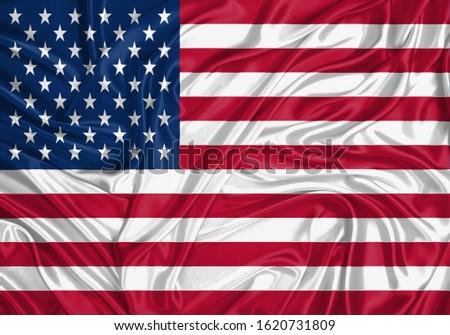 Silk Flag of USA . USA Flag of Silk Fabric #1620731809