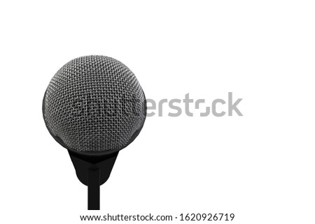 3d rendering. A microphone head with clipping path isolated on white background.