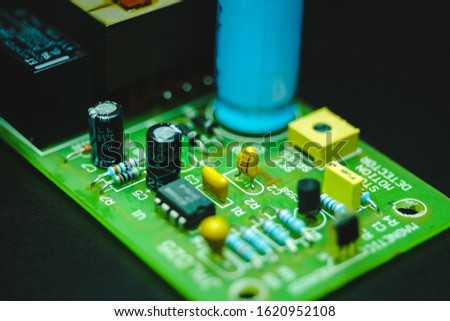 Closeup on Electronic device and electronic board, background #1620952108