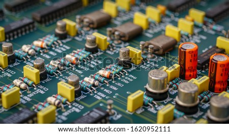 Closeup on Electronic device and electronic board, background #1620952111