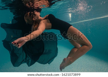 at a depth, ballerina, ballet, bathing suit, beach, beautiful, beautiful fabric, beautiful swimsuit, beauty, beauty saloon, black cloth, black diving mask, black mask, blue water, butterfly, clear wat #1621073899