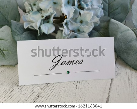 wedding place cards  wedding background with place cards and flowers green  leaves #1621163041