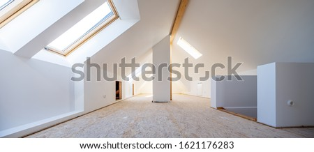 Attic is converted into light spacious living room #1621176283