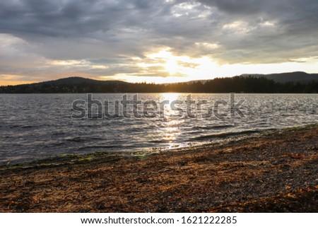 A Billings Spit Evening Sunset #1621222285
