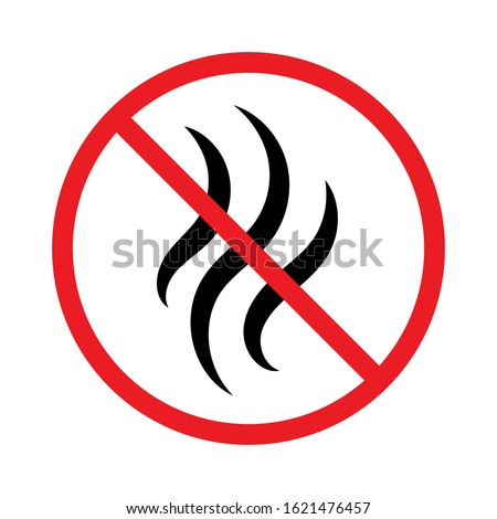 Stop bad smell icon. No perfume. Strong flavors are not allowed #1621476457