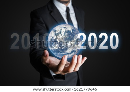 Future business world concept. The Earth element  in the image by NASA. #1621779646