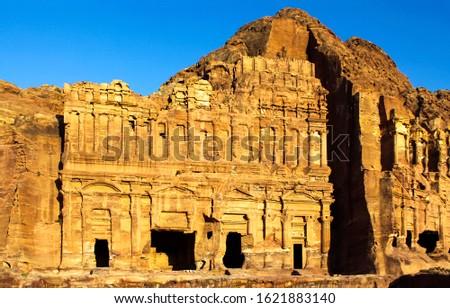 Ancient city of Petra in Jordan. Petra in Jordan ruins. Petra ruins #1621883140