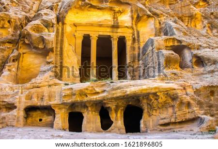 Ancient city of Petra in Jordan. Ruins Petra in Jordan. Petra in Jordan. Petra columns #1621896805