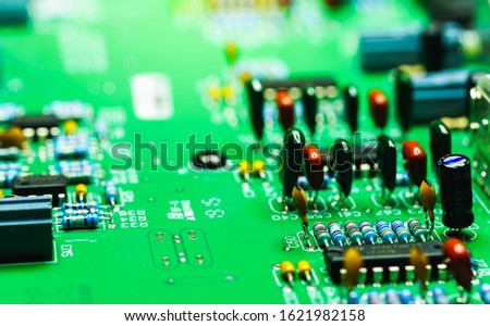 Closeup on Electronic device and electronic board, background #1621982158