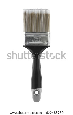 "A 2 1/2"" 63.5mm two and a half inch decorators paint brush on white with clipping path #1622485930"