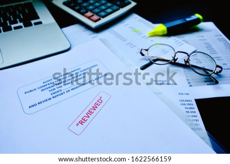 Accounting department and certified public accountant of the company must be examined serious. If find an error, used a color pen marker for edit before to public announcement of financial statement  #1622566159