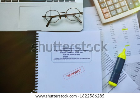 Accounting department and certified public accountant of the company must be examined serious. If find an error, used a color pen marker for edit before to public announcement of financial statement  #1622566285