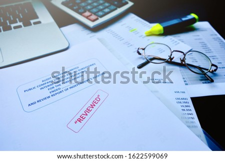 Accounting department and certified public accountant of the company must be examined serious. If find an error, used a color pen marker for edit before to public announcement of financial statement  #1622599069