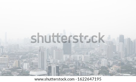 Bangkok City Thailand air pollution remains at hazardous levels PM 2.5  pollutants - minute dust and smoke level high #1622647195