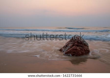 Rocks and waves by the sea #1622731666