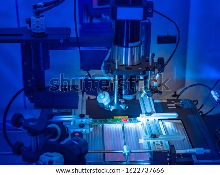 PCB. Production of microprocessors. Creation of components for computers. Equipment for testing microboards. High-tech production. Technical Lab. Expertise. Microprocessor manufacturing process #1622737666