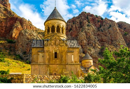 Armenian mountain stone church view. Mountain church in Armenia. Mountain church view #1622834005