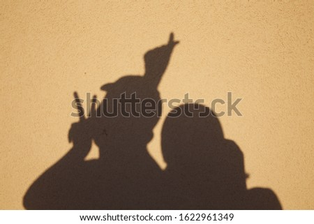 making shadow picture about love