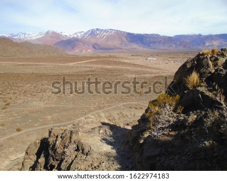 Dry landscape into the wilderness area #1622974183
